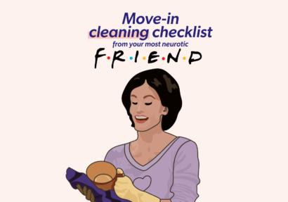 Monica Geller Friends Cleaning Checklist